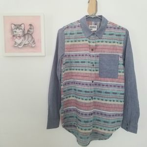 Vans 100% Cotton Tribal Button-down Embroidered